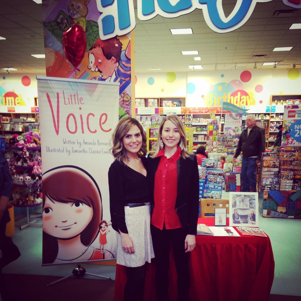Amanda Bernardo and Samatha Clusiau-Lawlor at Chapters Book Launch