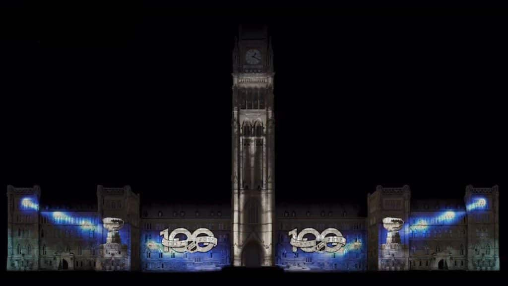 NHL100 Parliament Hill Lights